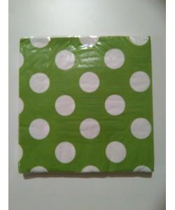 Tovagliolo Lime Green Pois 16 pz 33 x 33 cm