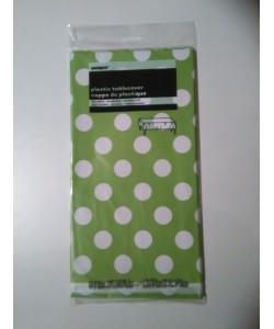 Tovaglia Plastica Lime Green Pois 1 pz 137 x 274 cm