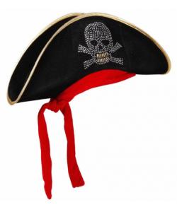 Cappello Pirata Teschio Bandana