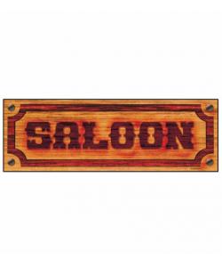 Insegna Saloon 78x26 cm