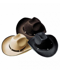 Cappello Cowboy Borchie Marrone