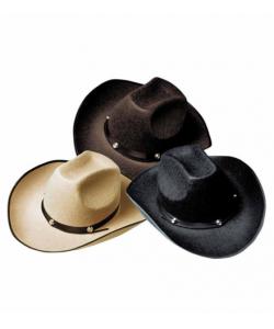 Cappello Cowboy Borchie Nero