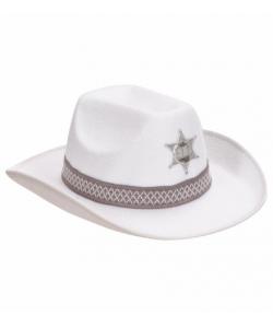 Cappello Sceriffo bianco in feltro