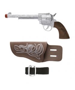 Pistola con fondina e cintura