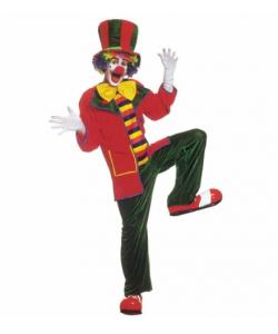 Pagliaccio (casacca, pantaloni, farfallino, cappello)