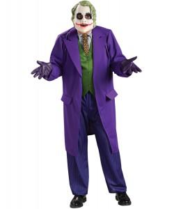 Joker (maschera, giacca con camicia, cravatta, panciotto stampato)