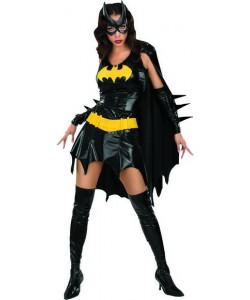 Batgirl (vestito, mantello, maschera, copristivali, bracciali )