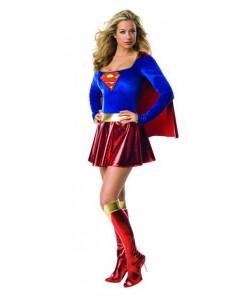 Supergirl (vestito con mantello, cintura, copristivali)