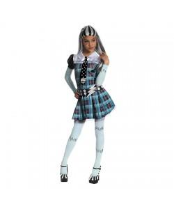 Monster High Frankie Stein taglia bimba (vestito con maniche, cravatta, cintura, calze)