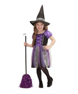 Streghetta 3-5 anni (vestito, cappello)