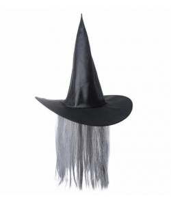 Cappello Strega con capelli grigi d6ba20ec98d4