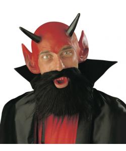 Set Diavolo (copricapo, dentiera, barba con baffi)