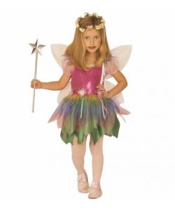 Fatina Arcobaleno (vestito, ali) 5-13 anni