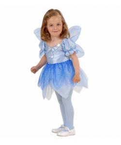 Fatina Azzurra (vestito, ali) 1-3 anni