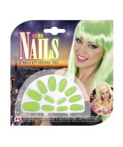 Unghie fluorescenti verdi