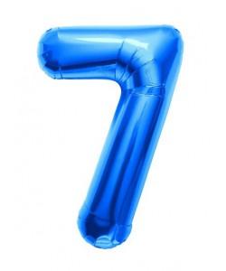 Pallone foil numero 7 blu 40 cm