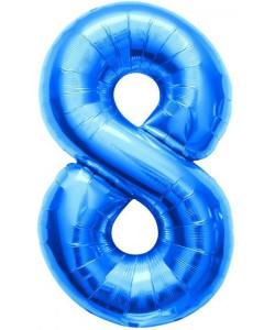 Pallone foil numero 8 blu 40 cm