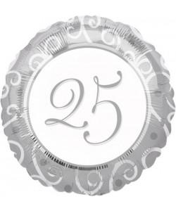 Pallone foil 25 anniversario 43 cm