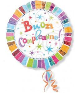 Pallone Buon Compleanno Radiant 45 cm