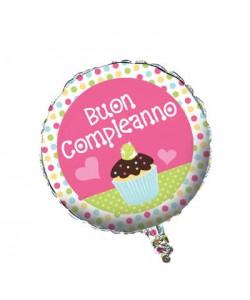 Pallone Buon Compleanno Sweet Treat 45 cm