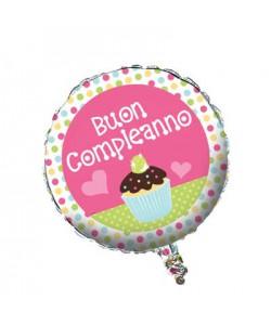 Pallone Buon Compleanno Sweet Treat 45 cm