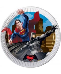 Piatto BATMAN VS SUPERMAN 20 cm 8 pz