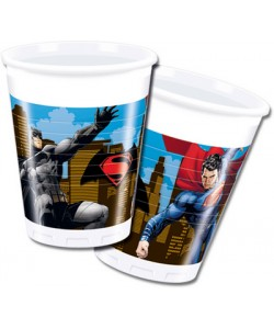 Bicchiere plastica BATMAN VS SUPERMAN 200 ml 8 pz