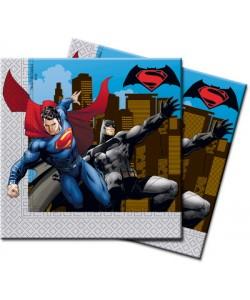Tovagliolo BATMAN VS SUPERMAN 33 cm 20 pz