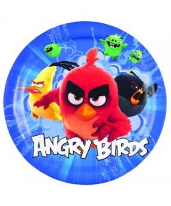 Piatto Angry Birds 8 pz  18 cm