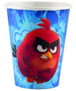 Bicchiere Angry Birds 8 pz