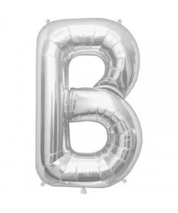 Pallone foil  lettera B argento 86 cm