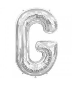 Pallone foil  lettera G argento 86 cm